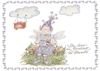Du Bist Ein Geschenk Des Himmels Doppelkarte Mit Umschlag